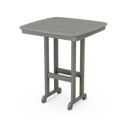 "Nautical 37"" Bar Table in Slate Grey"