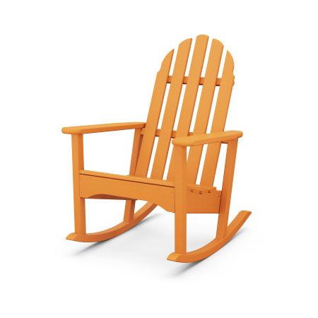 Classic Adirondack Rocking Chair in Tangerine