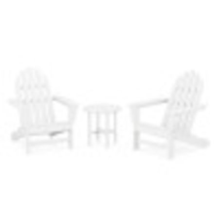 Classic Adirondack 3-Piece Set in White