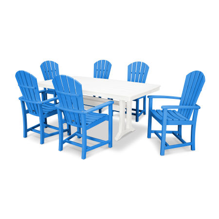Palm Coast 7 Piece Dining Set in Pacific Blue