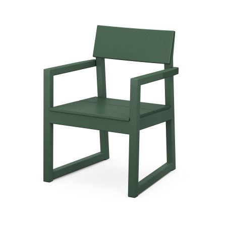 EDGE Dining Arm Chair in Green