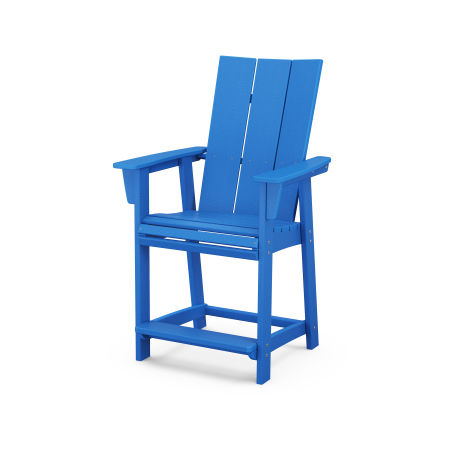 Modern Adirondack Counter Chair in Pacific Blue