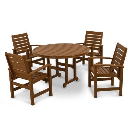 Signature 5-Piece Dining Set in Teak