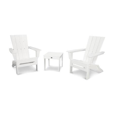 Quattro 3-Piece Adirondack Set in White
