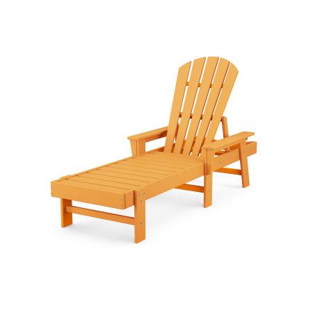 South Beach Chaise in Tangerine