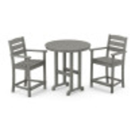 Lakeside 3-Piece Round Counter Arm Chair Set