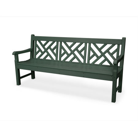 """Rockford 72"""" Chippendale Bench in Green"""