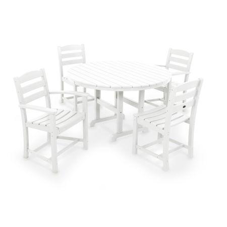 La Casa Café 5-Piece Dining Set in White