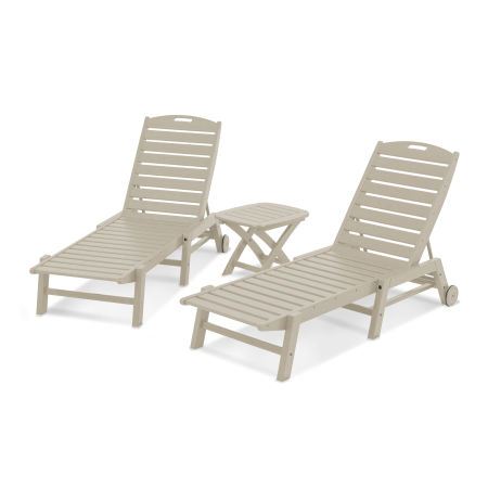 Nautical 3-Piece Chaise Set in Sand