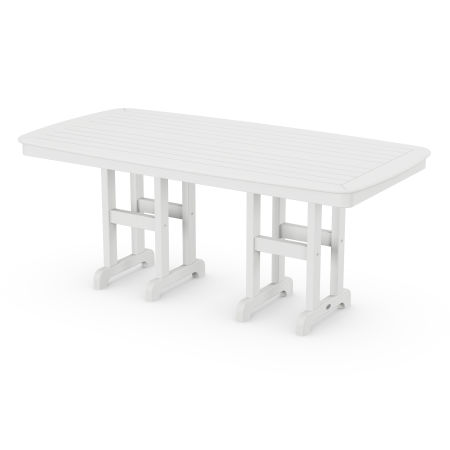 """Nautical 37"""" x 72"""" Dining Table in White"""