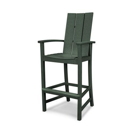 Modern Adirondack Bar Chair in Green