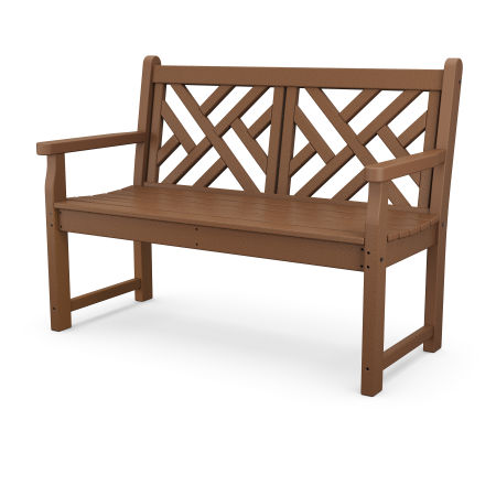 """Chippendale 48"""" Bench in Teak"""