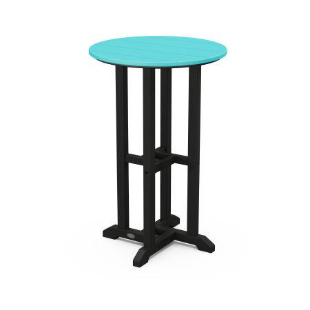 "24"" Round Counter Table in Black Frame / Aruba"