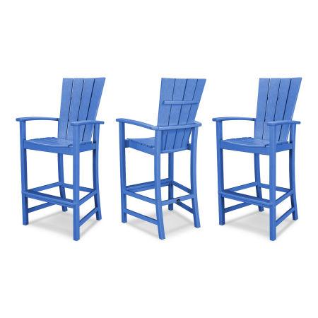 Quattro 3-Piece Bar Set in Pacific Blue