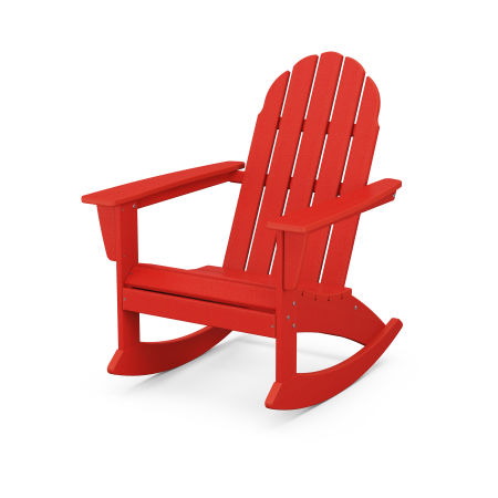 Vineyard Adirondack Rocking Chair in Sunset Red