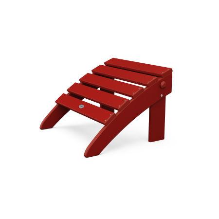 Classic Adirondack Folding Ottoman Crimson Red