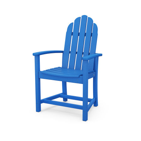 Classic Adirondack Dining Chair in Pacific Blue