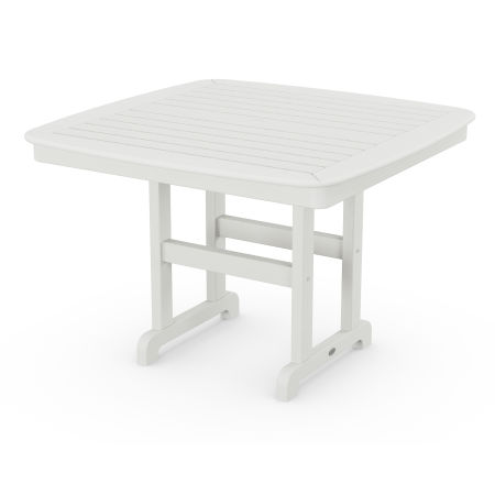"""Nautical 44"""" Dining Table in Vintage White"""