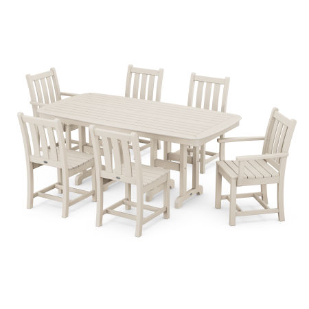 Traditional Garden 7-Piece Dining Set in Sand