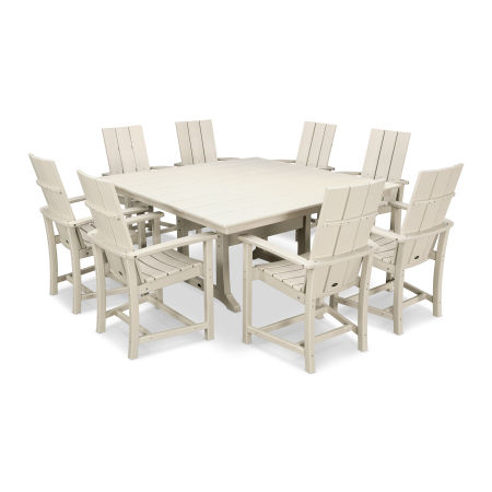 Adirondack 9-Piece Farmhouse Dining Set in Sand