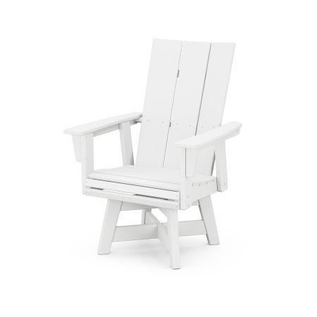 Modern Adirondack Swivel Dining Chair in White