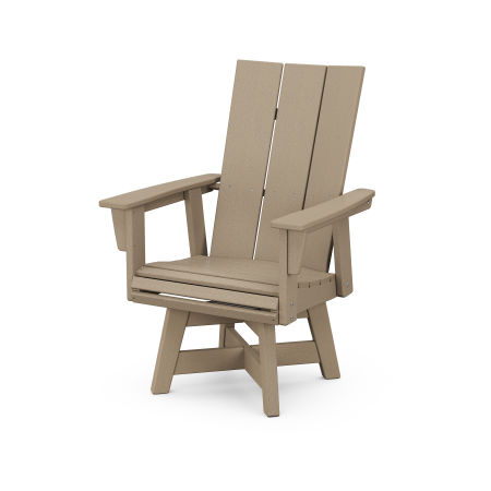 Modern Adirondack Swivel Dining Chair in Vintage Sahara