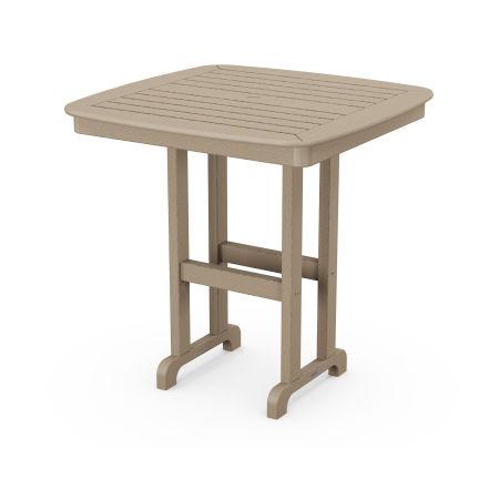 "Nautical 37"" Counter Table in Vintage Sahara"