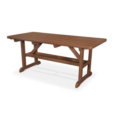 """Park 33"""" x 70"""" Picnic Table in Teak"""