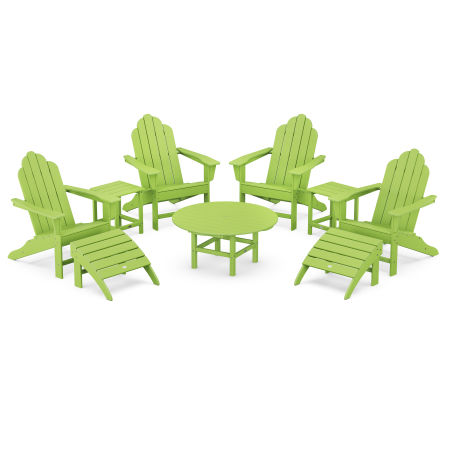 Long Island Adirondack 9-Piece Conversation Group in Lime