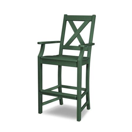 Braxton Bar Arm Chair in Green