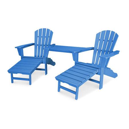 Palm Coast Adirondack Tête-à-Tête Set in Pacific Blue