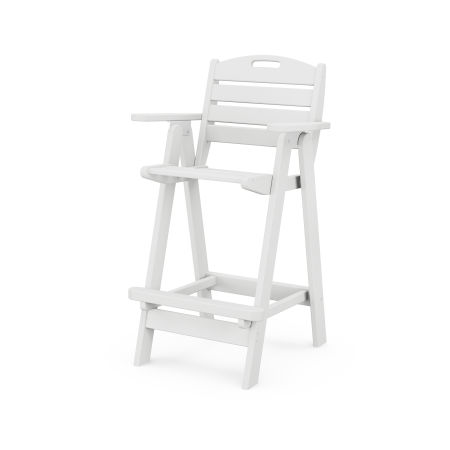 Nautical Bar Chair in White