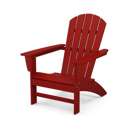 Nautical Adirondack Chair in Crimson Red