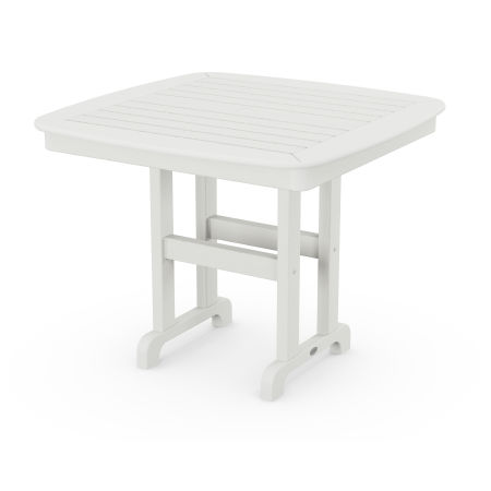 """Nautical 37"""" Dining Table in Vintage White"""
