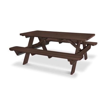 """Park 72"""" Picnic Table in Mahogany"""