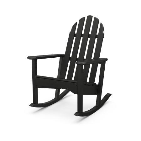Classic Adirondack Rocking Chair in Black