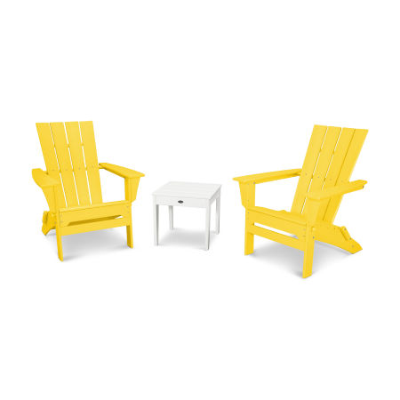 Quattro 3-Piece Adirondack Set in Lemon