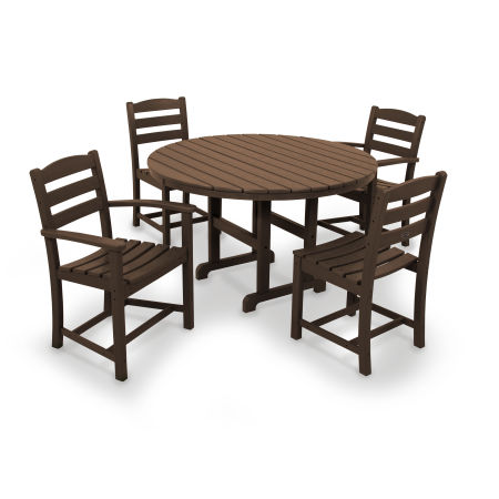 La Casa Café 5-Piece Dining Set in Mahogany
