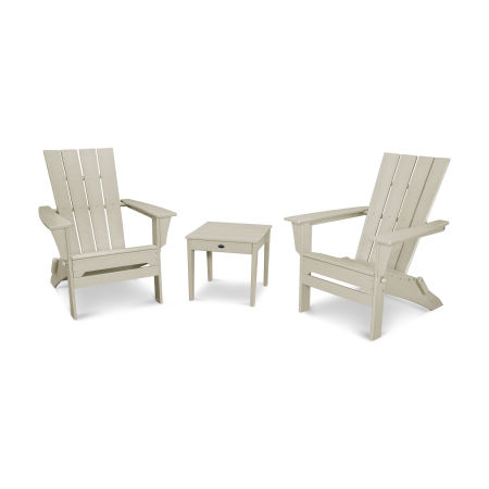 Quattro 3-Piece Adirondack Set in Sand