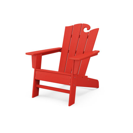 The Ocean Chair in Sunset Red