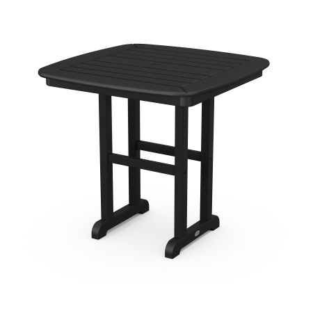 """Nautical 31"""" Dining Table in Black"""