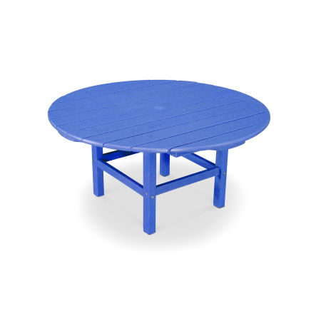 """Round 38"""" Conversation Table in Vintage Pacific Blue"""