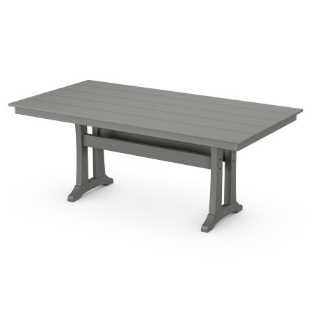 "37"" x 72"" Dining Table in Slate Grey"