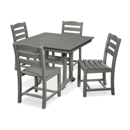 La Casa Café 5-Piece Farmhouse Side Chair Dining Set
