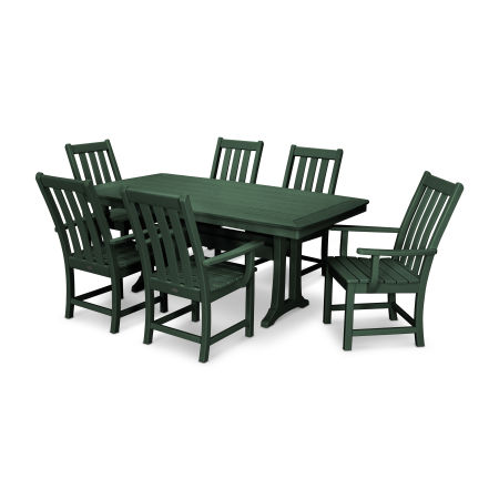 Vineyard 7-Piece Dining Set in Green