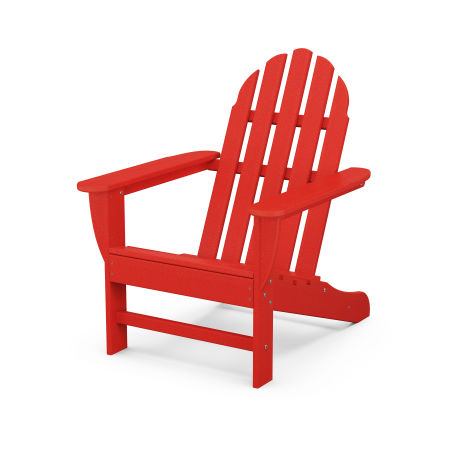 Classic Adirondack Chair in Sunset Red