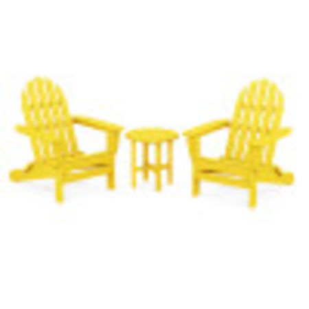 Classic Adirondack Folding Adirondack 3-Piece Set in Lemon