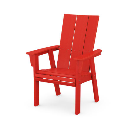 Modern Adirondack Dining Chair in Sunset Red