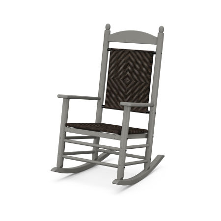 Jefferson Woven Rocking Chair in Slate Grey / Cahaba