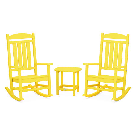 Presidential Rocking Chair 3-Piece Set in Lemon